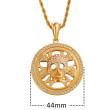 Zlatý náhrdelník chirurgická ocel WJHC252