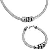 Elegantní souprava ocelových šperků SET117ST