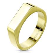 Zlatý pečetní prsten pro ženy chirurgická ocel SERM7686G