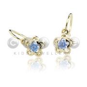 náušničky pro miminko Cutie Jewellery C2204Z Arctic Blue