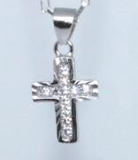 Přívěšek křížek se zirkony 307058