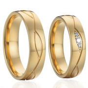 Ocelové snubní prstýnky SPPL022