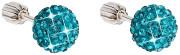 Stříbrné Swarovski náušnice kuličky 31111.3 blue zirkon