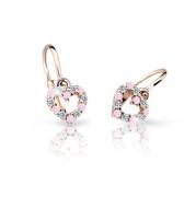 Zlaté dětské náušnice Cutie Jewellery C2157R-Pink