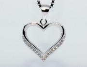 Stříbrný přívěsek srdce 307618