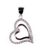 Stříbrný přívěšek srdce 304686