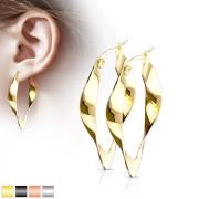 Ocelové náušnice pro ženy 3546-gold