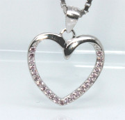 Stříbrný přívěsek srdce 305222