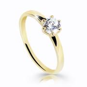Zlatý zásnubní prstýnek se zirkonem Z6485Y