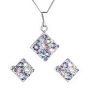 Souprava stříbrných šperků Swarovski elemenst 39126.3-violet