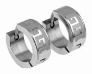 Ocelové náušnice kroužky SEE027