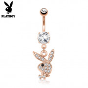 Pozlacený piercing do pupíku Playboy SEPBNC015