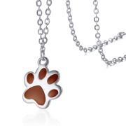 Ocelový náhrdelník psí tlapička JCFNC336S