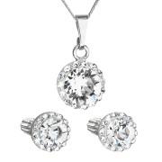 Sada stříbrných šperků s kamínky Swarovski 39352.1 Bílá