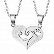 Přívěsek srdce pro dva zamilované JCFCN022S