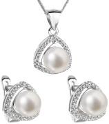 Sada stříbrných šperků s perlou 29011.1