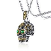 Ocelový náhrdelník s lebkou JCFPN-1158