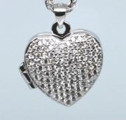 Stříbrný medailonek srdíčko 307180