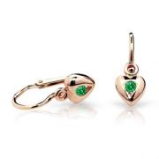 Náušnice pro miminka Cutie C1556R-Emerald Green