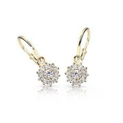 Zlaté náušnice pro miminko Cutie Jewellery C2749Z Bílá