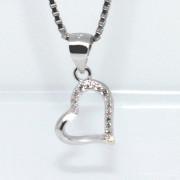 Stříbrný přívěsek srdce 302961