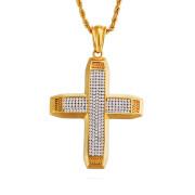 Kříž se zirkony + řetízek WJHC255