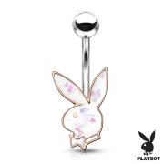 Piercing do pupiku Playboy 006RD-WH