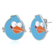 Ocelové náušnice SESSE0108 - Angry bird