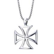 Náhrdelník chirurgická ocel Maltézský kříž JCFPN722