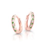 Zlaté dětské náušnice kroužky Cutie Jewellery C3342R-Green