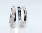 Stříbrné naušnice se zirkony 308430