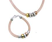 Elegantní souprava ocelových šperků SET117RG