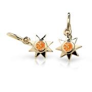 Náušnice pro miminko C1995Z-Oranžová