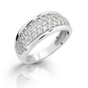 Stříbrný prstýnek se zirkony 2335