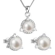 Souprava stříbrných perlových šperků 29033.1