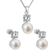 Souprava stříbrných perlových šperků 29002.1