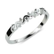 Stříbrný prstýnek se zirkony 2086