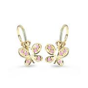 Dětské náušnice zlaté Cutie Jewellery C2748Z-Růžová