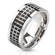Prsten z chirurgické oceli 2808