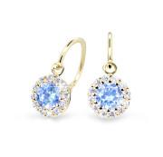 Dětské náušnice zlaté Cutie Jewellery C2745Z-Arctic Blue