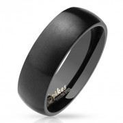 Ocelový černý prstýnek 027K