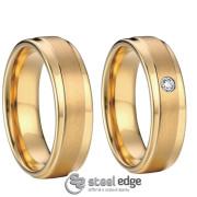 Luxusní ocelové snubní prsteny SPPL007