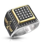 Ocelový prsten pro muže 7360