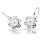 Náušnice stříbrné Cutie Jewellery C2489 White