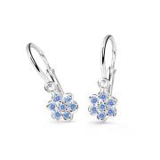 Dětské naušničky z bílého zlata Cutie Jewellery C2746B-Arctic Blue