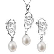 Souprava stříbrných perlových šperků 29036.1