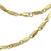 Ocelový náhrdelník zlatý 1386