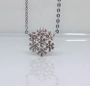Stříbrný náhrdelník sněhová vločka 306525