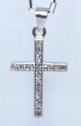 Přívěšek křížek se zirkony 304730