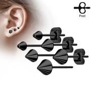 Pecky do uší chirurgická ocel 3445-BK
